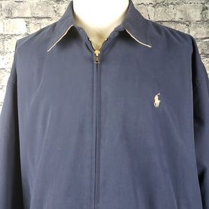 Polo Ralph Lauren Navy Full Zip Windbreaker, XL